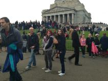 Guy, Madison & Paige after Dawn Service on Anzac Day 2013