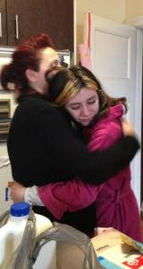 Paige was so overwhelmed when I handed her out first donation. thank you Irene, Kathy, Koula & Androula