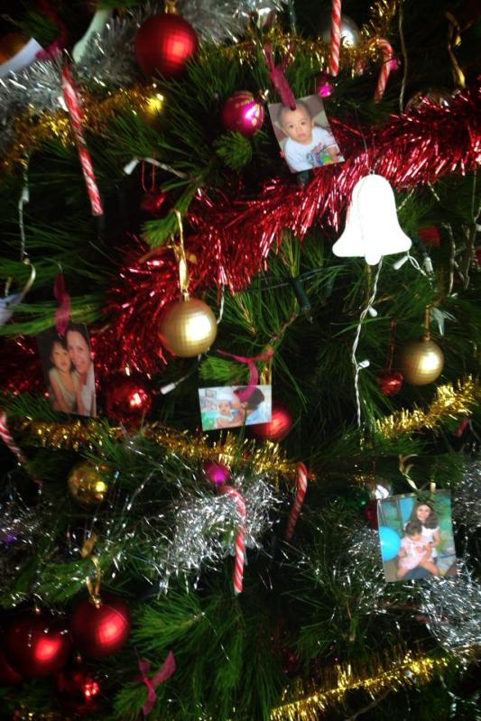 Home from work and Paige had surprised me with photos of our beautiful children on the tree.